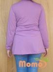 tunic sayuri lavender long sleeve back