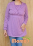 tunic sayuri lavender long sleeve front