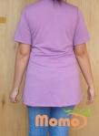 tunic sayuri lavender short sleeve back