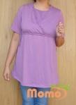 tunic sayuri lavender short sleeve front
