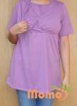 tunic sayuri lavender short sleeve opening