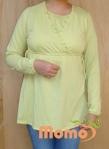 tunic sayuri lime long sleeve front