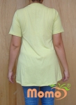 tunic sayuri lime short sleeve back