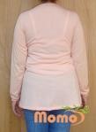 tunic sayuri peach long sleeve back