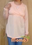 tunic sayuri peach long sleeve front