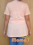tunic sayuri peach short sleeve back