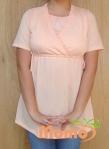 tunic sayuri peach short sleeve front