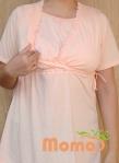 tunic sayuri peach short sleeve opening