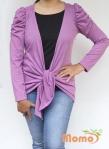 baju menyusui tops yuki lavender front tied
