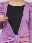 baju menyusui tops yuki lavender opening
