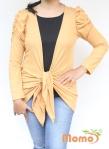 baju menyusui tops yuki mustard front tied