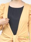 baju menyusui tops yuki mustard opening