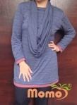 one piece hoodie naomi navy front shawl