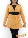 Baju Hamil & Menyusui Tunic Rie Mustard-Front