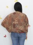 baju hamil menyusui tops kirara brown back