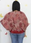 baju hamil menyusui tops kirara red back