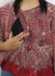 baju hamil menyusui tops kirara red opening