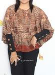 Baju Hamil & Menyusui-Tops Kirara with extended Sleeve-Brown