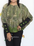 Baju Hamil & Menyusui-Tops Kirara with extended Sleeve-Green