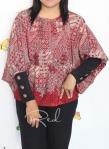 Baju Hamil & Menyusui-Tops Kirara with extended Sleeve-Red
