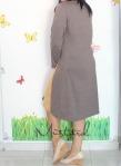 baju hamil menyusui dress inari mustard back