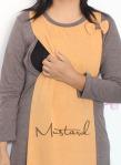 baju hamil menyusui dress inari mustard opening