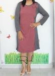 baju hamil menyusui dress inari red front
