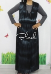 baju hamil menyusui long dress yui black front