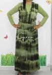 baju hamil menyusui long dress yui green front