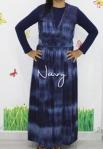 baju hamil menyusui long dress yui navy front