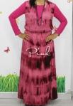 baju hamil menyusui long dress yui pink front