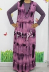 baju hamil menyusui long dress yui purple front