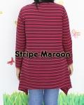 baju hamil menyusui tunic hikari stripe maroon back