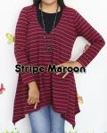 baju hamil menyusui tunic hikari stripe maroon