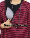 baju hamil menyusui tunic hikari stripe nursing opening