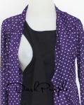 baju menyusui tops yukari darkpurple opening