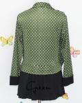 baju menyusui tops yukari green back