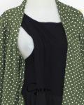 baju menyusui tops yukari green opening