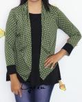 baju menyusui tops yukari green