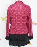 baju menyusui tops yukari maroon back